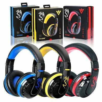 Bluetooth 4.0 Headset Wireless Stereo Super Bass Music Game Headphone With Mic