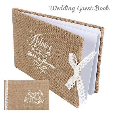 Wedding Guest Book Scrapbook Album 120 PAGES Lace & Bow-knot for Choose