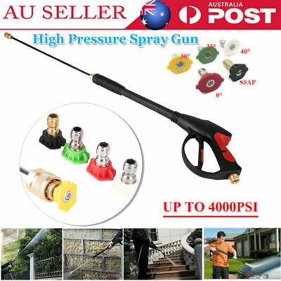 4000PSI Power High Pressure Water Car Washer Spray Gun Lance Hose Nozzle&Tip AU