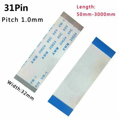Pitch 1.0mm 31-Pin FFC/FPC Flexible Flat Cable 80C 60V VW-1 W:32mm L:50mm-3000mm