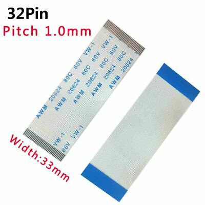Pitch 1.0mm 32-Pin FFC/FPC Flexible Flat Cable 80C 60V VW-1 W:33mm L:50mm-3000mm