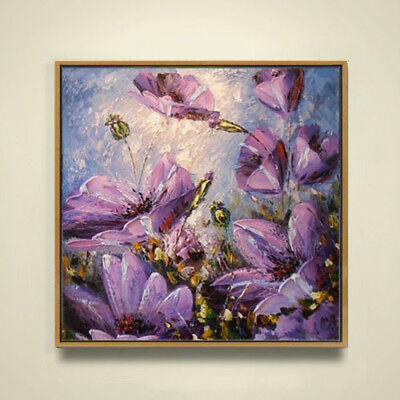 Modern 100% Hand-painted Abstract Flower Oil Painting Home Living Room Decor Art