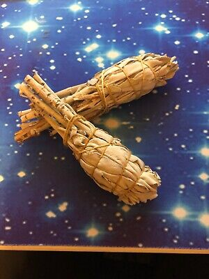Smudge Stick California White Sage - (12cm) - Long Pack of 2 Sticks