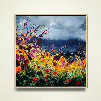 Hand-painted Abstract Flower Oil Painting Modern Simple Nordic Living Room Decor