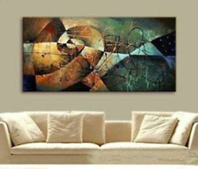 Large Modern Home Study Decor Abstract Art Hand-painted Oil Painting Canvas Gift