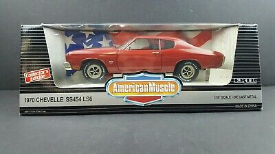 ERTL 1/18 1970 Chevelle SS 454 LS6 Cranberry Red 7486 American Muscle '70