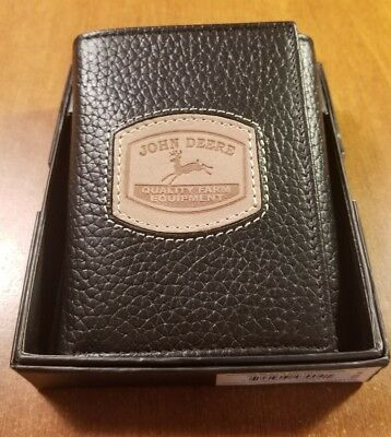 4054000-200 Brown John Deere BiFold Wallet w//Stitched Patch