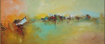 Modern Home Abstract Decor Art Canvas Pure Hand-Painted Large Oil Painting Wall