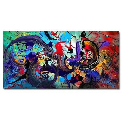 Modern Living Room Home Art Deco Hand-painted Abstract Color Oil Painting Canvas