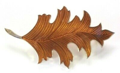 74a5393b6 LEAF PIN GOLD Tone New Brown Yellow Orange Fall Autumn Leaves ...