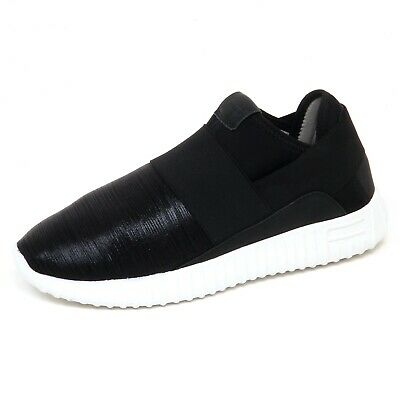 47cf09a990f33 F4468 SNEAKER DONNA tissue black FESSURA DINGHY slip on shoe woman ...