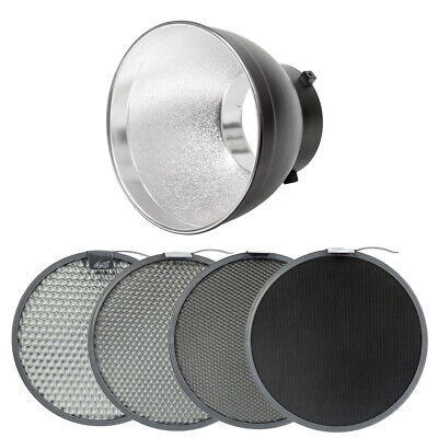 55° Reflector with 4x Honeycomb Grid for Studio Flashes Lighting Modifiers