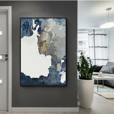 Modern 100% Hand-painted Abstract Art Oil Painting Living Room Study Decor Wall