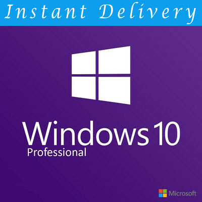 Microsoft Windows 10 Pro Professional 32bit|64bit Genuine License Key Product