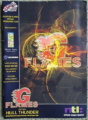 1999 Guildford Flames v Hull Thunder PROGRAMME free UK p&p