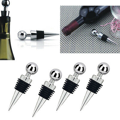 Baoblaze 4Pieces Stainless Steel Wine Champagne Bottle Stopper Cap Home Bar