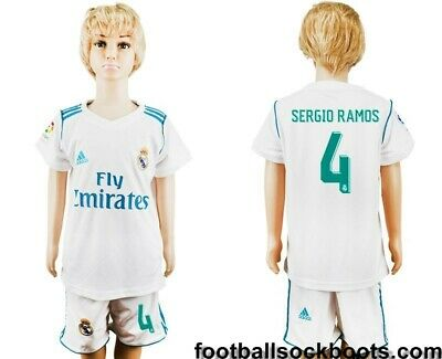 official photos b0df3 6e8b6 REAL MADRID CF Home Football Kit Kids 17-18 Sergio Ramos