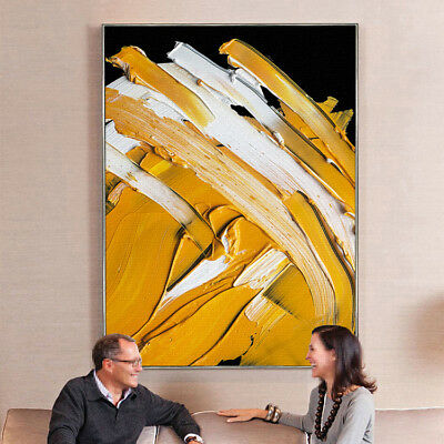 Modern Home Study Art Deco Hand-painted Abstract Thick Oil Painting on Canvas
