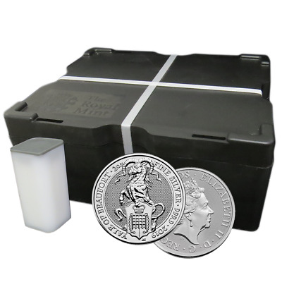 Lot of 200 - 2019 U.K. 5 Pound Silver Queen's Beast Yale of Beaufort .9999 2 oz
