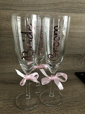 Personalised Vinyl decal Stickers For Champagne Flute Glasses /Sticker Only.