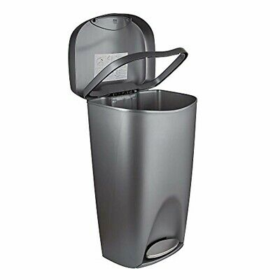 NEW 13-GALLON TOUCH-FREE Sensor Automatic Stainless-Steel Trash Can Kitchen  50 R