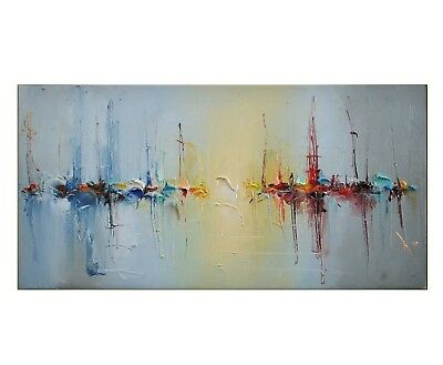 Modern Large Hand-Painted Oil Painting Wall Abstract Home Decor Art On Canvas