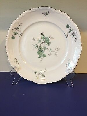Mitterteich Green Ming Dinner Plate Bavaria Germany Gold Trim Lot of 7 plates