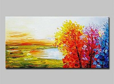 Abstract Pure Hand Painted Scenery Oil Painting Wall Home Decor Art On Canvas