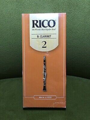 Rico Bb Clarinet Reeds 25-pack Strength 2.0
