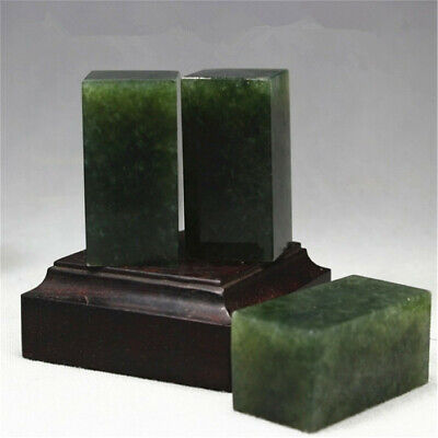 Dandong Green Seal Blank Stone 1.5x1.5x5cm For Beginners With Practice Carving