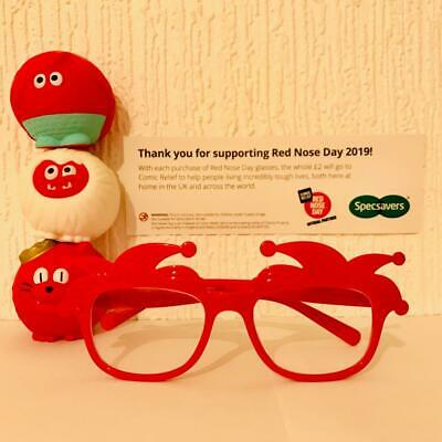 Red Nose Day 2019 Official  Glasses - Comic Relief- First class Postage.