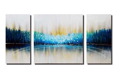 3PCS Modern Art Home Decor Abstract Scenery Hand-Painted Oil Painting On Canvas