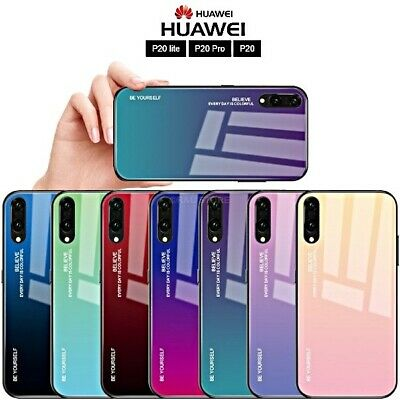 COVER per Huawei P20 Lite/Pro ORIGINALE Gradient Glass con RETRO VETRO TEMPERATO