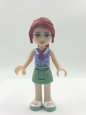 Lego Friends Mia Bright Pink Layered Skirt Olive Green Top Bow