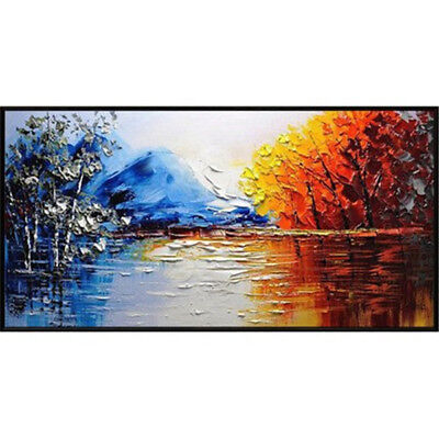 NEW Art- Abstract Modern Home Canvas Art Pure Hand-Painted Oil Painting Scenery