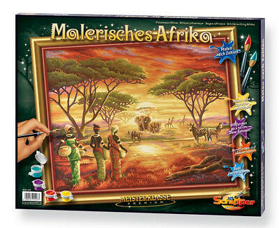 NO MIXING NEEDED Schipper Picturesque Africa painting by number