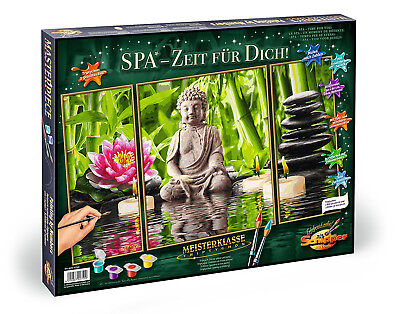 No mixing needed! Spa Time For You! Painting By Numbers Schipper Buddha Flowers
