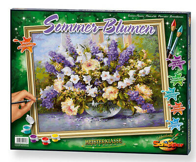 NO MIXING NEEDED Painting by number Schipper Summer Flowers