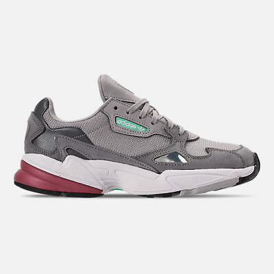 low priced fb772 163f4 AUTHENTIC adidas Originals Falcon Suede Grey Two Trace Maroon Women size