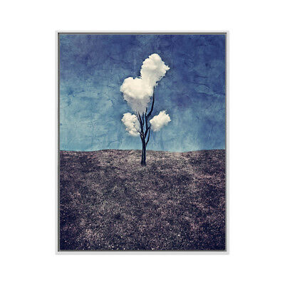 Modern Art Abstract White Cloud Hand-painted Oil Painting Home Decor Wall Canvas