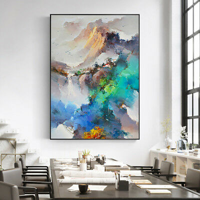 Modern Abstract Landscape Hand Painted Oil Painting Art Home Decor Wall Canvas