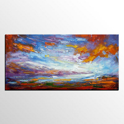 Huge Abstract Landscape Hand-painted Oil painting Modern Art Home Decor Canvas