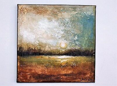 Modern Art Abstract Hand-Painted Sunrise Scenery Oil Painting Home Decor Canvas