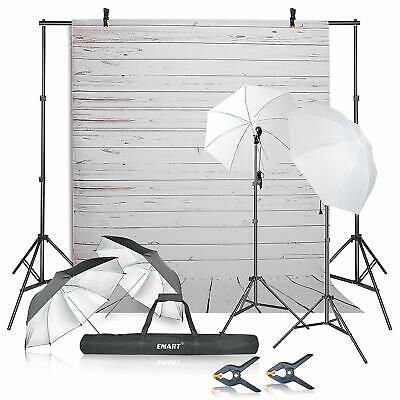 Emart Photography Umbrellas Continuous Lighting Kit, 400W 5500K w/ Defect