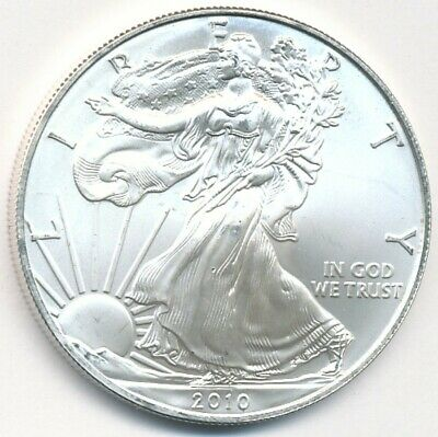2010 American Eagle 1 Oz .999 Fine Silver U.s. Coin Exact Shown