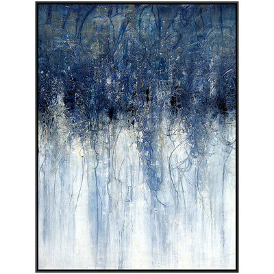 Modern Home Decor Canvas Wall Art Abstract Blue Hand-painted Oil Painting Gifts