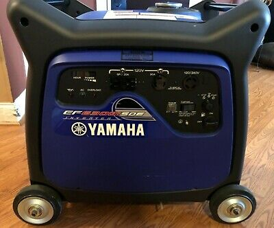 YAMAHA EF6300ISDE PORTABLE GENERATOR inc REMOTE STARTER AND COVER