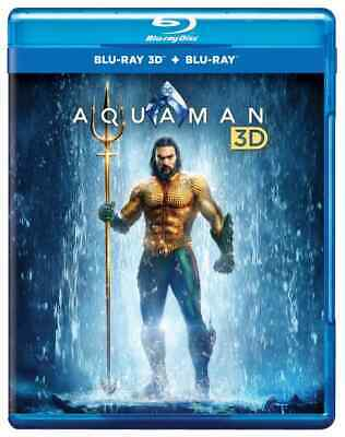 Aquaman (Blu-ray 3D + Blu-ray + Digital) Jason Momoa, Amber Heard - New!