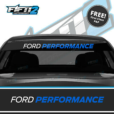Ford Performance Fiesta ST Focus Sunstrip Zetec RS Sun Strip Decal High Quality