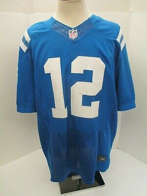 Discount INDIANAPOLIS COLTS #12 Andrew Luck Men's Nike Elite NFL Blue Tackle